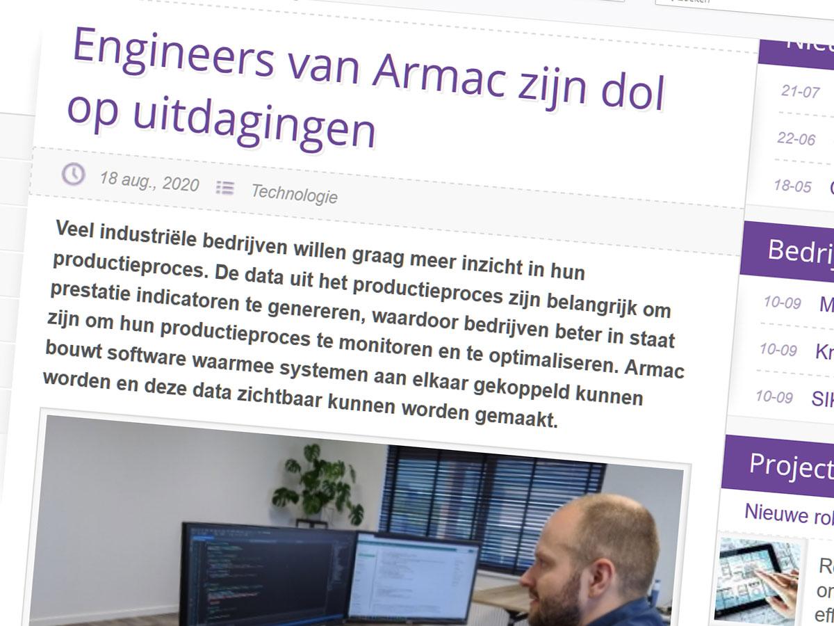 Engineers van Armac zijn dol op uitdagingen