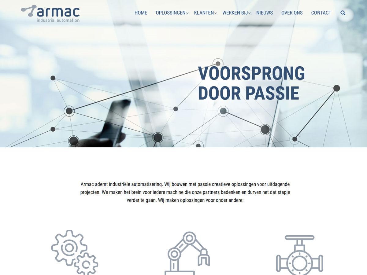 Nieuwe website en huisstijl voor Armac door Blik op online